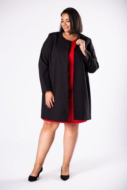 Černý jednořadový kabát M81253
