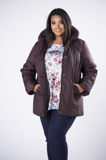 Zimní kratší bunda s kapucí - 82 - 87 cm M80928