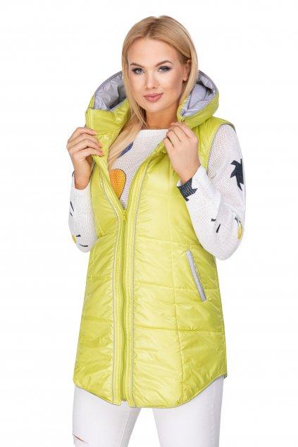 Prošívaná vesta neon - 82 - 85 cm