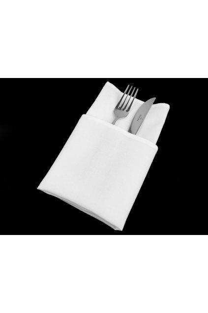 Sada 2 ks bílých bavlněných ubrousků 45 x 45 cm   L9810398