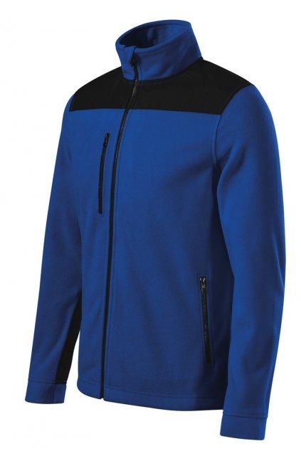 Fleece bunda Effect královsky modrá