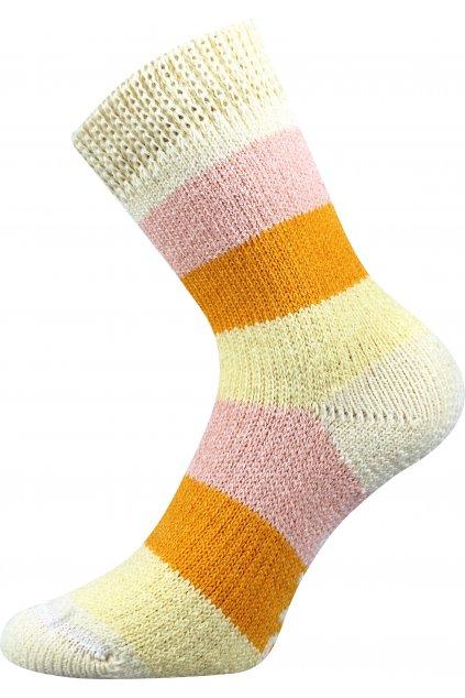 ponožky Spací ponožky - PRUH - pruhy 06/žlutá