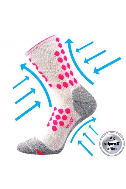 kompresní ponožky Finish - bílá