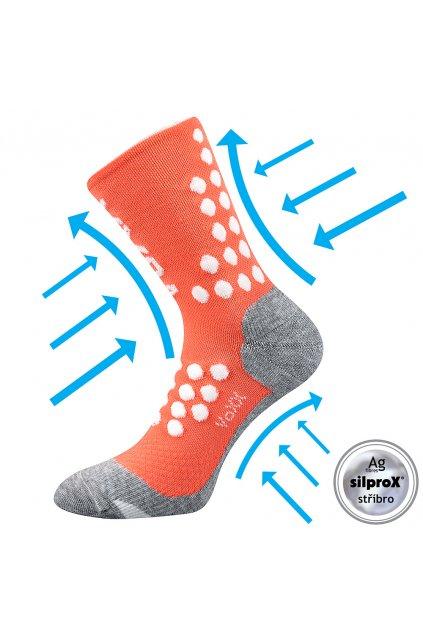kompresní ponožky Finish - lososová