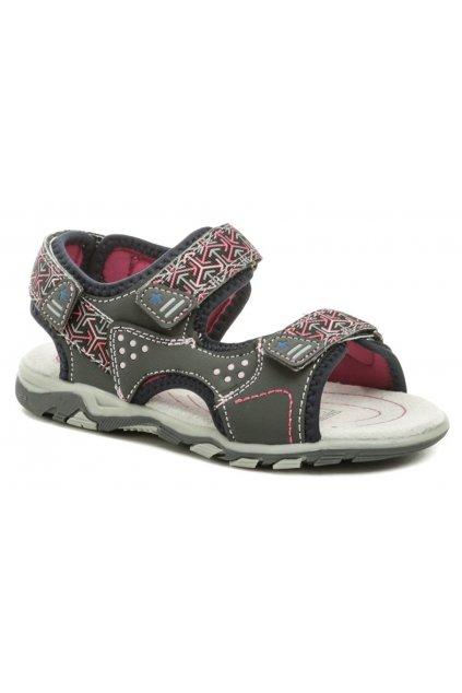 Wojtylko 5S2720 šedo růžové dívčí sandálky