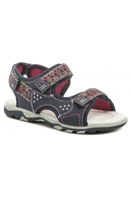 Wojtylko 5S2720 modro růžové dívčí sandálky