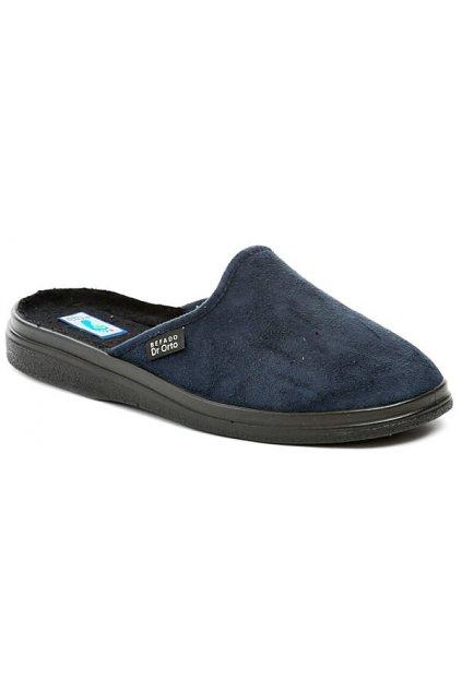 Dr. Orto 132M006 modré pánské nadměrné zdravotní pantofle