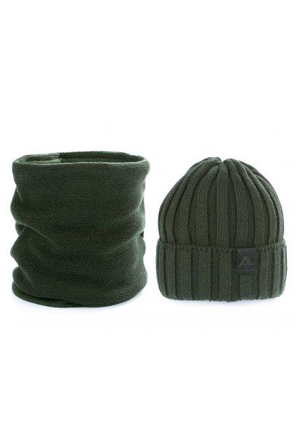 Pánská zimní sada čepice a nákrčník   L9810410