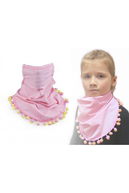 Šátek včetně roušky 2v1 dětský   L9810641