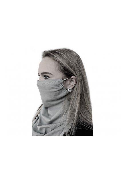 Šátek včetně roušky 2v1   L9810592