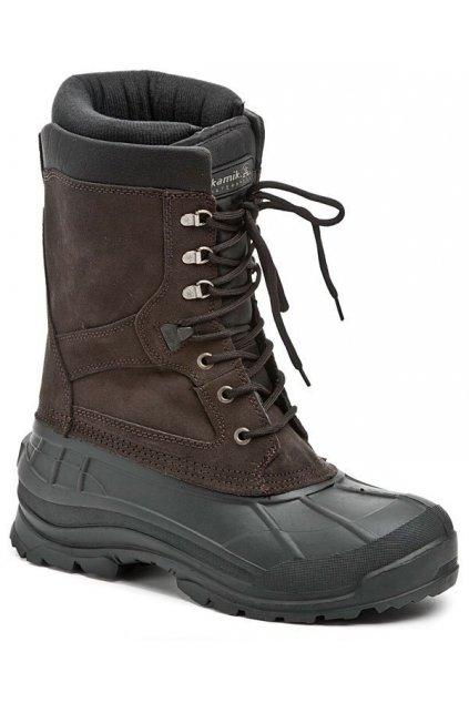 KAMIK Nationplus hnědé pánske zimni boty