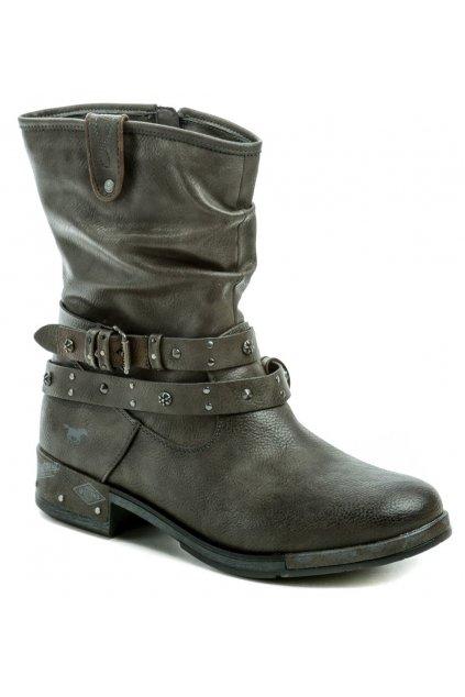 Mustang 1332-503-20 šedé nadměrné dámské zimní boty