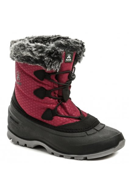 Kamik MomentumLO Red dámská zimní obuv