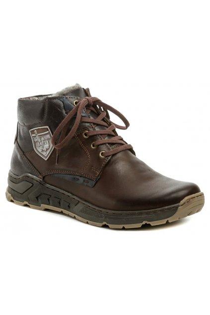 Mateos 874 hnědá pánská zimní obuv