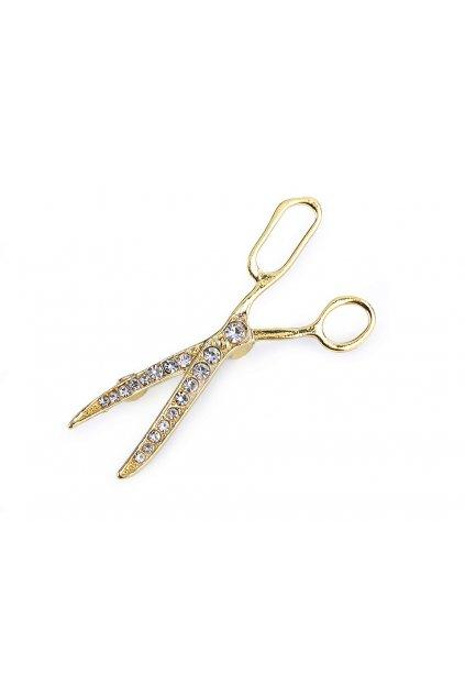 Brož s broušenými kamínky nůžky   L9330965
