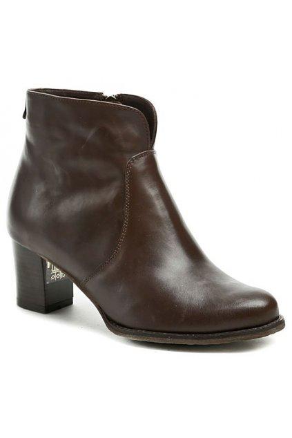 Abil 620 hnědé dámské zimní kotníčkové boty