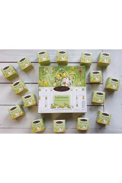 Dárkové balení bylinného čaje s heřmánkem v pyramidkách, 28,8 g  L17023