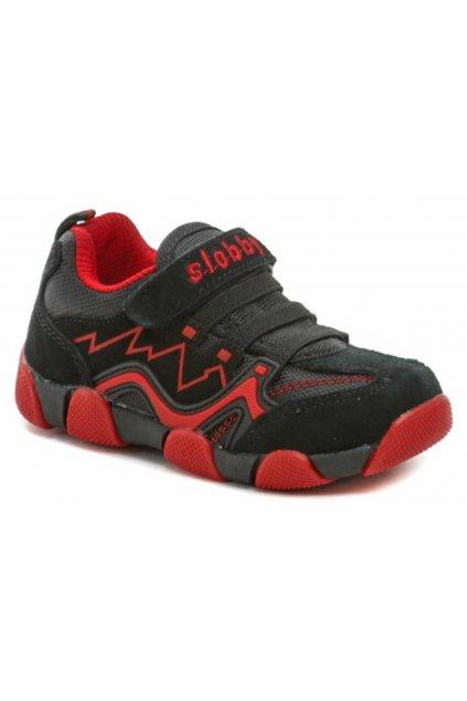 Slobby 47-0164-S1 černo červené dětské tenisky