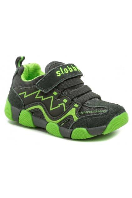 Slobby 47-0164-S1 šedo zelené dětské tenisky