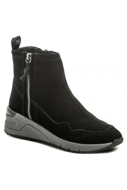 Tamaris 1-25428-25 black dámské kotníčkové boty