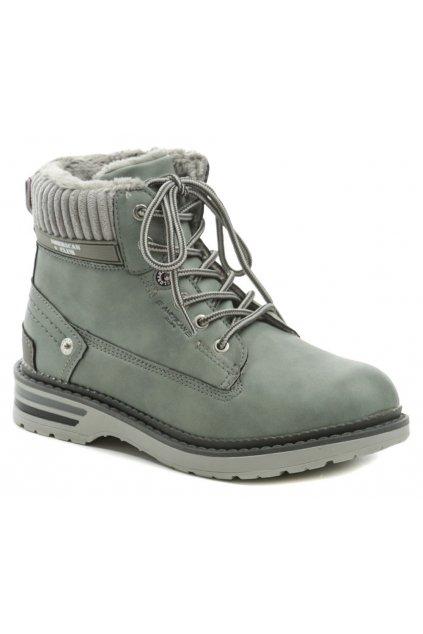 American Club RH43-2 šedé zimní boty