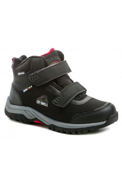 American Club HL33-20 černo červené dětské zimní boty