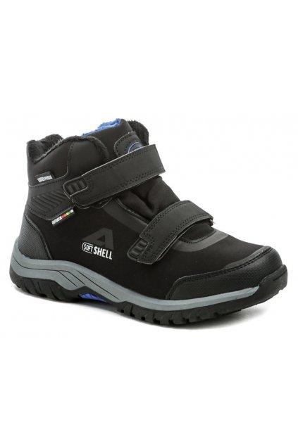 American Club HL33-20 černo modré dětské zimní boty