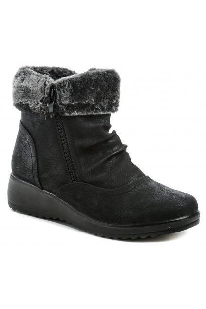 Scandi 262-0089-A1 černé dámské zimní boty