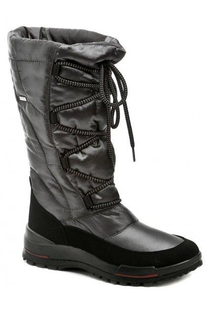 Jacalu 6200.20 šedé dámské zimní boty šíře F