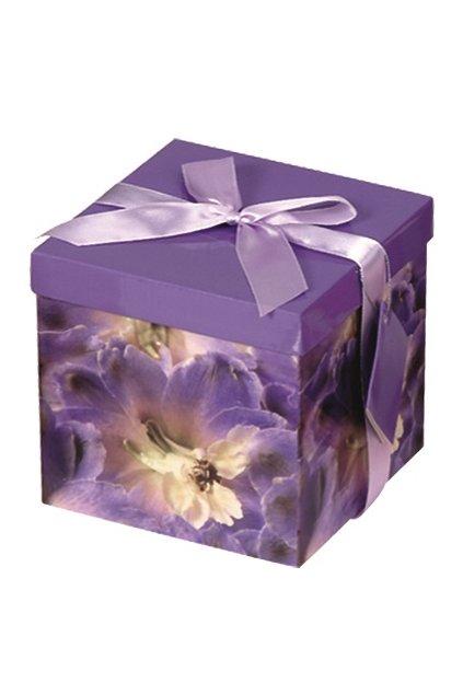 Dárková krabička skládací s mašlí M 15x15x15 cm L1376-07