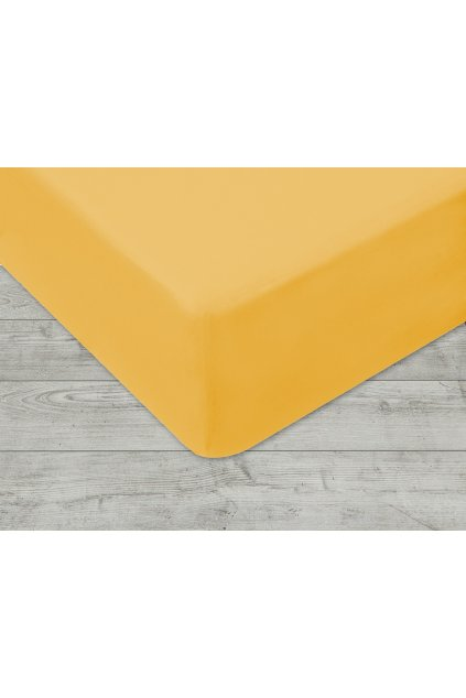 Jersey prostěradlo na gumu 004 - žlutá 160 x 200 cm