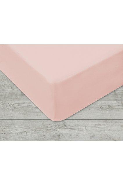 Jersey prostěradlo na gumu 006 - sv. růžová 160 x 200 cm