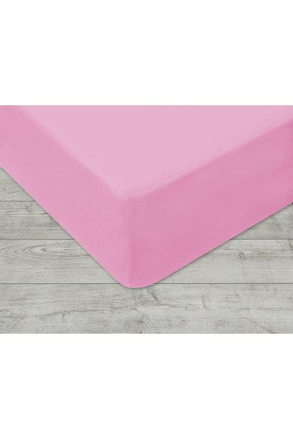 Jersey prostěradlo na gumu 005 - růžová 160 x 200 cm
