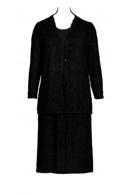 sako a sukne pro plnostihle uplet cerny web