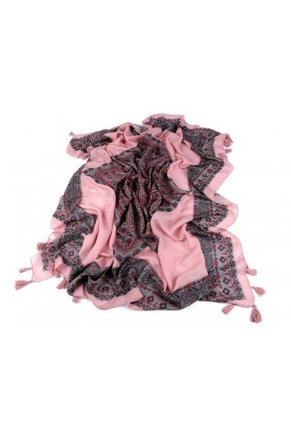 Šátek se střapci 125x125 cm L9810215