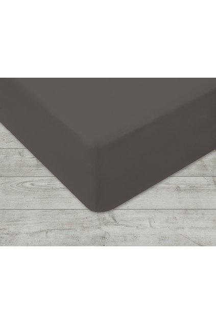 Jersey prostěradlo na gumu 037 - šedá 180x200 cm