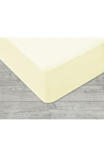 Jersey prostěradlo na gumu 022 - žlutá  120x200 cm