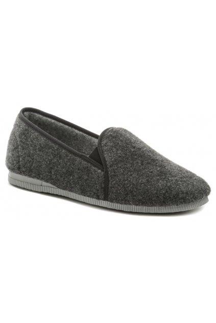 Pegres 1014 šedá pánská domácí obuv