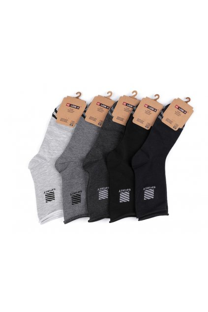 Pánské bavlněné ponožky se zdravotním lemem L9290647