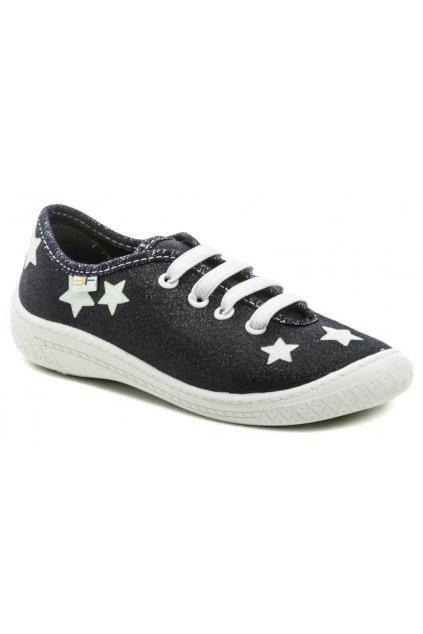 3F dětské modré tenisky s hvězdami 4BL14-7