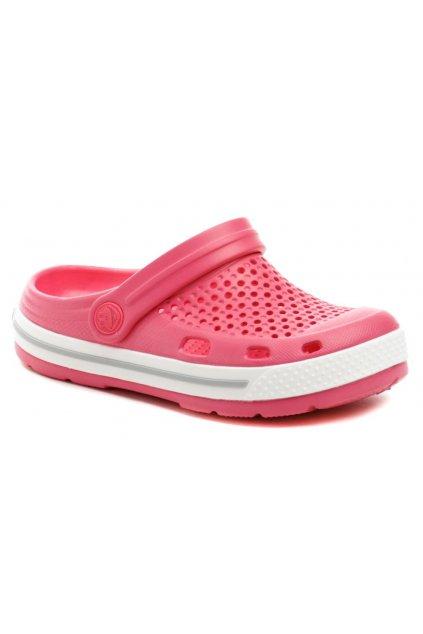 Coqui 6423 Lindo růžové dětské nazouváky