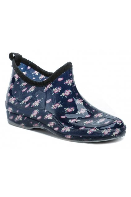 Wojtylko 7G4621G modré květy nízké dámské gumáky