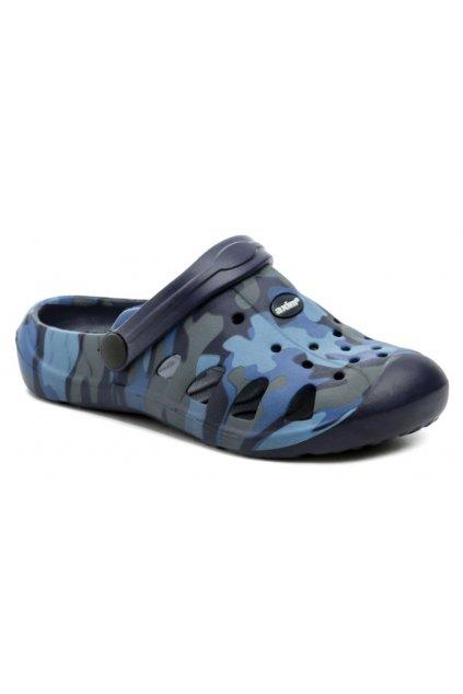 Axim 4K3805 modré dětské nazouváky crocsy