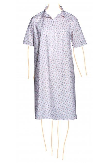 Noční košile růžičky - volba rukávu a délky