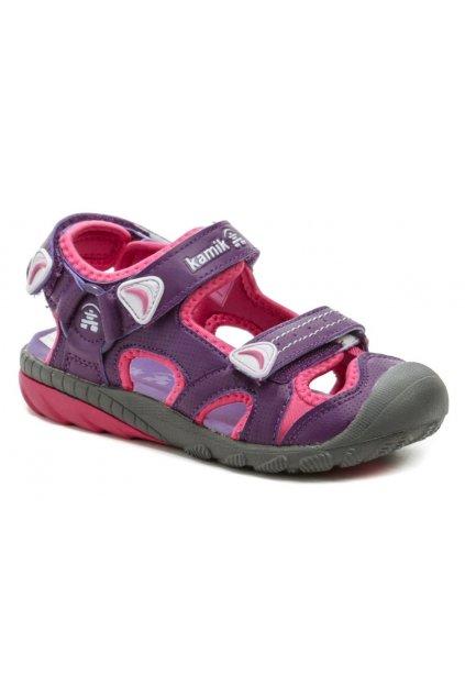 KAMIK BELUGA purple dívčí sandály