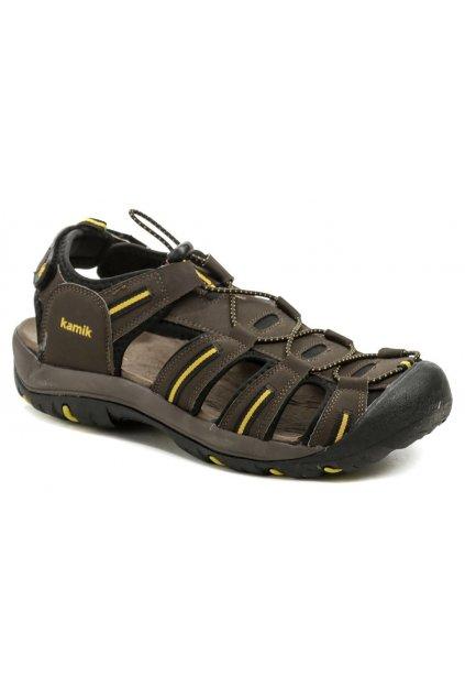 KAMIK CAPEMAY hnědé pánské sandály