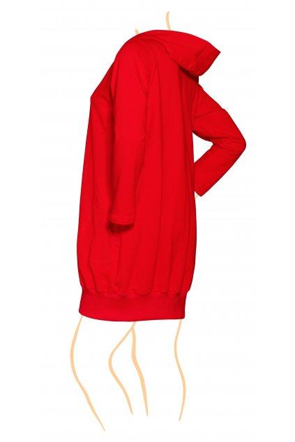NELA teplákový kabát s nápletem - varianty barev a délek