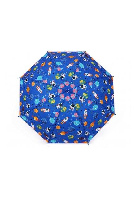Dětský vystřelovací deštník s píšťalkou vesmír L9530024