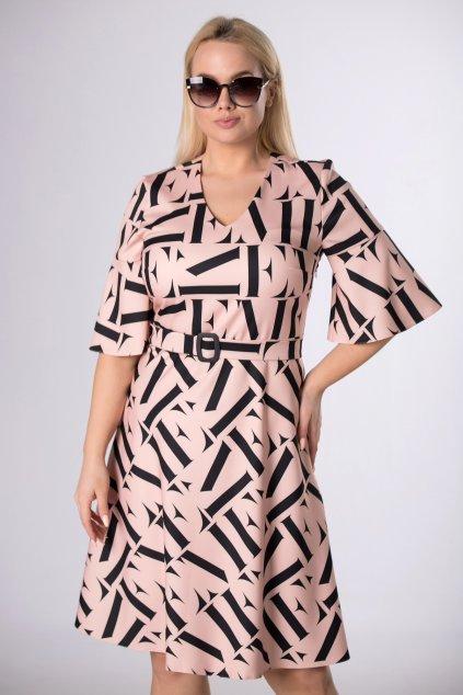 Koktejlové šaty s páskem QMD83813