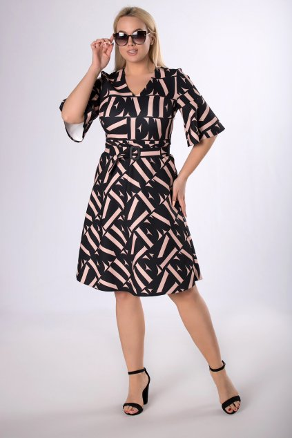 Koktejlové šaty s páskem QMD83814